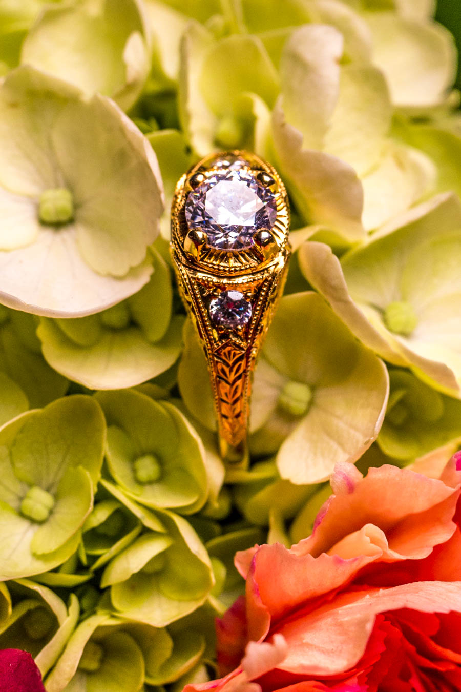 Floral Burst Ring / Image: Catherine Viox{ }// Published: 10.8.19