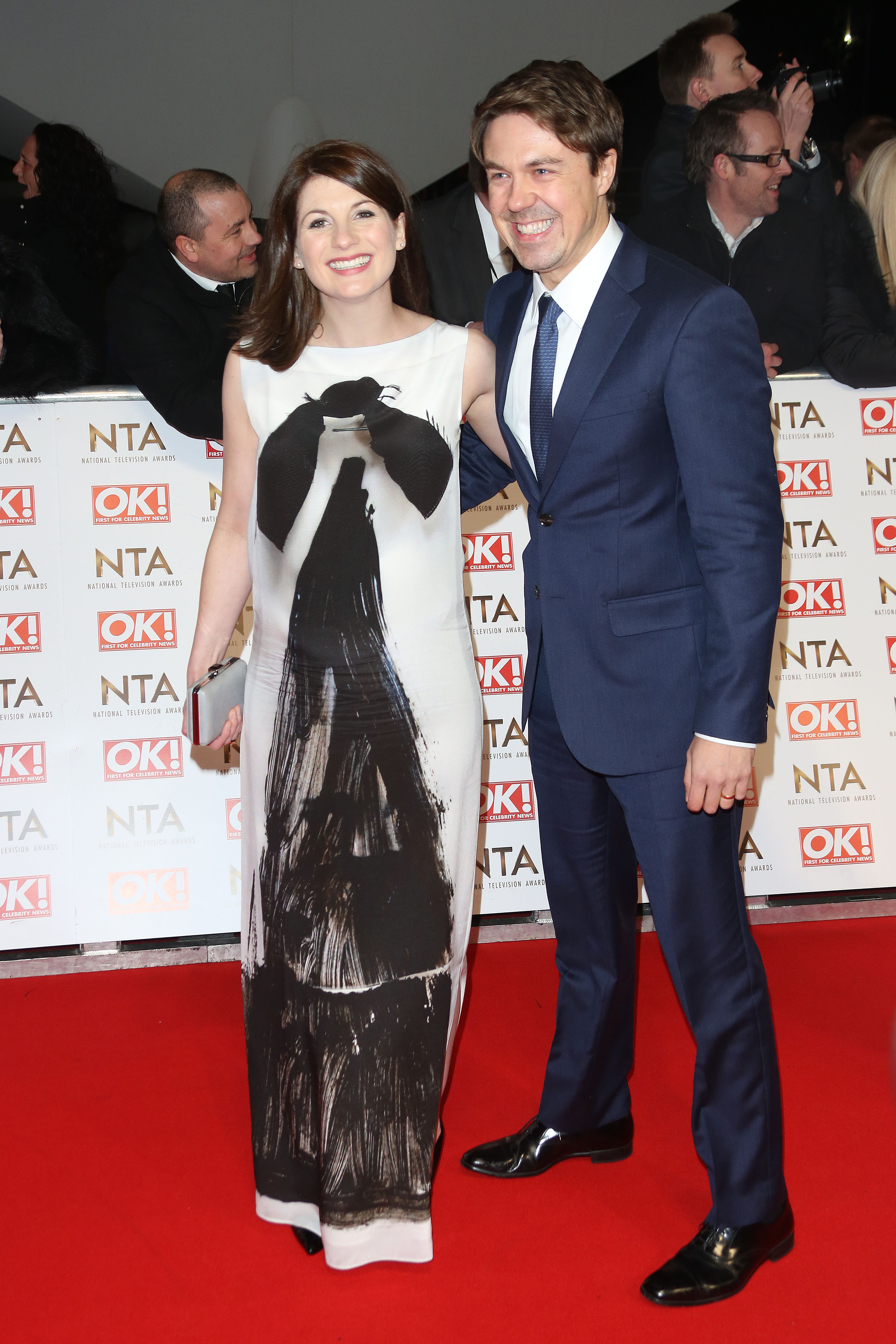 The National Television Awards (NTA's) 2015 held at the O2 - Arrivals                                    Featuring: Jodie Whittaker, Andrew Buchan                  Where: London                  When: 21 Jan 2015                  Credit: Lia Toby/WENN.com