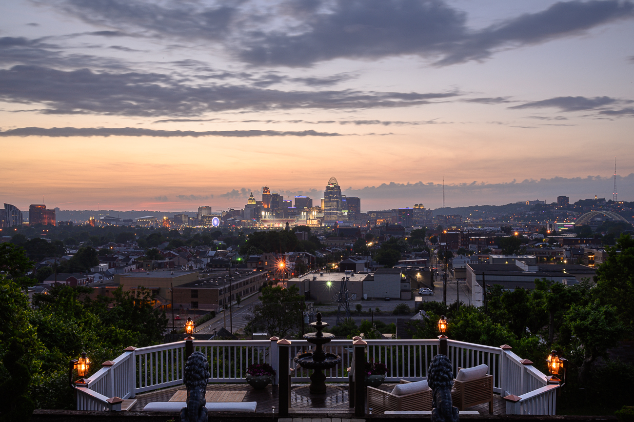 David says the Reds' Friday night fireworks display is among the many highlights of having a perfectly framed view of the city. / Image: Phil Armstrong, Cincinnati Refined // Published: 5.31.19<p></p>