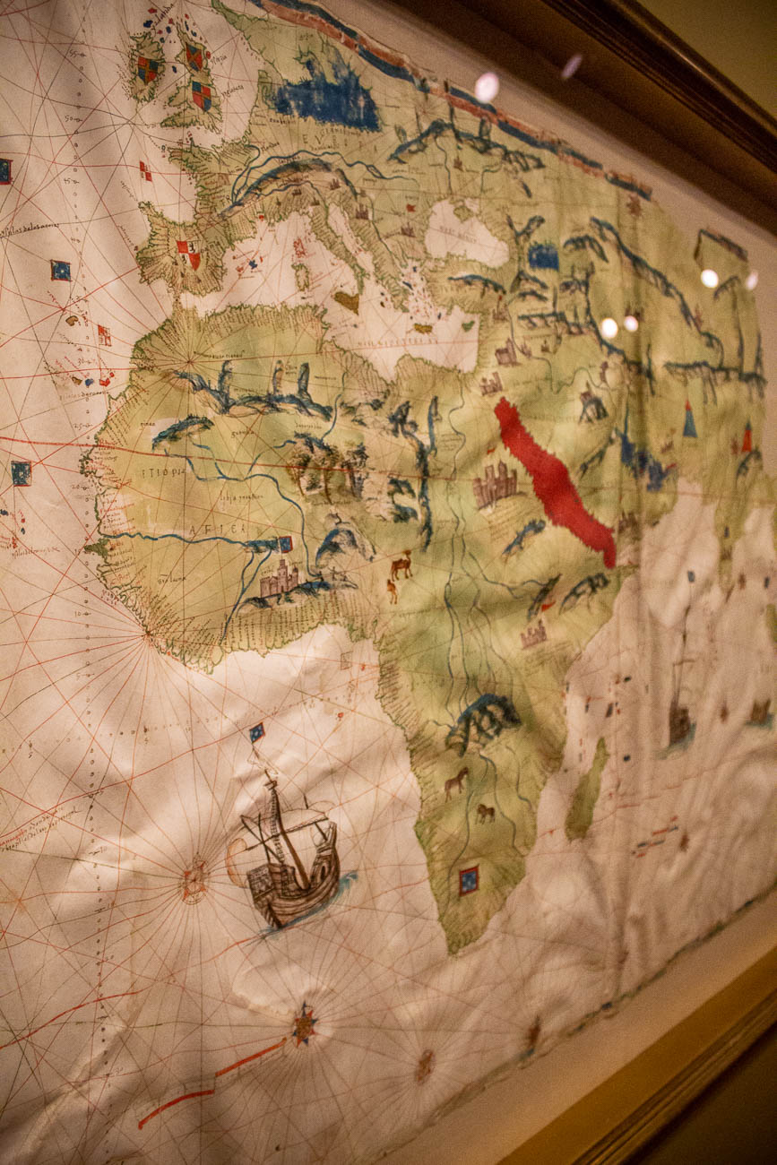 The Mapamundi or 'World Map' was made in 1526.{ }/ Image: Katie Robinson, Cincinnati Refined // Published: 10.26.19