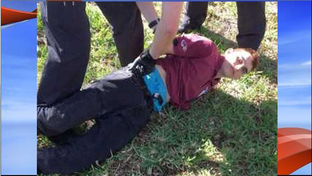 Nikolas Cruz, 19, the suspect in a shooting at a high school in Parkland, Florida, is taken into custody. (AP)