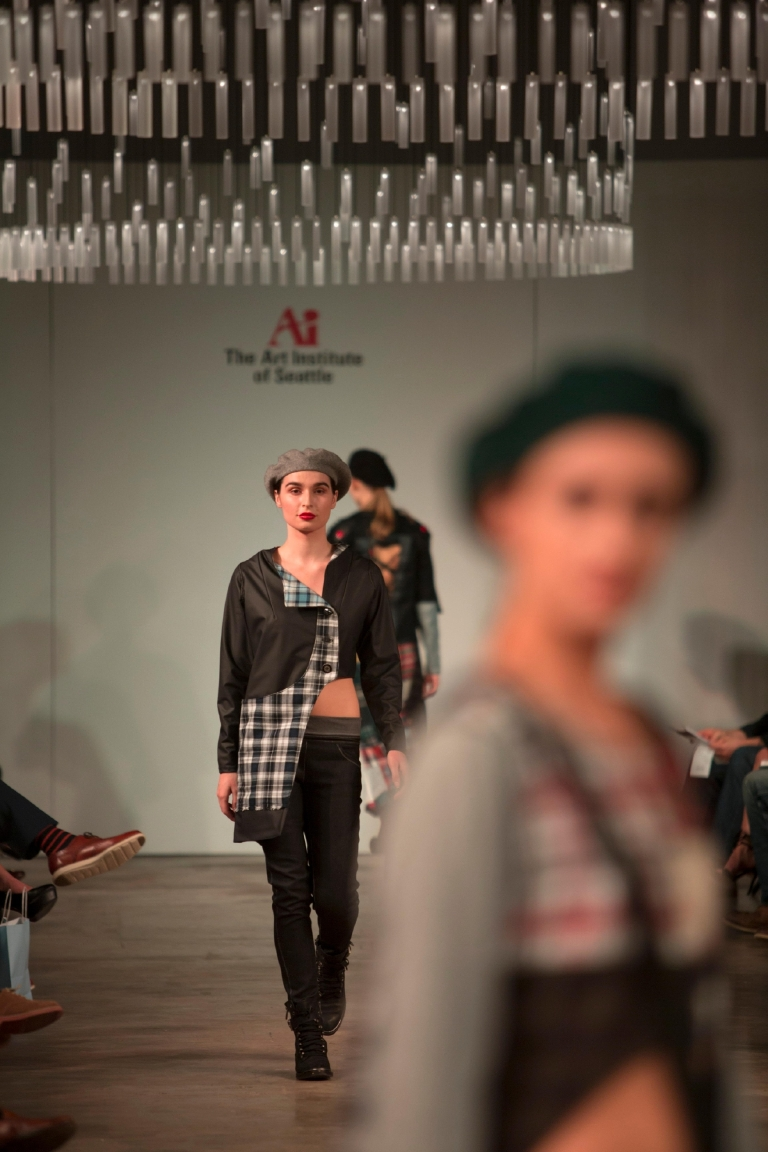 The Art Institute of Seattle's Aeon Neue Fashion Show at the Canvas Event Space in SODO. Over 700 guests came to see the collections created by the institute's students. (Sy Bean / Seattle Refined)
