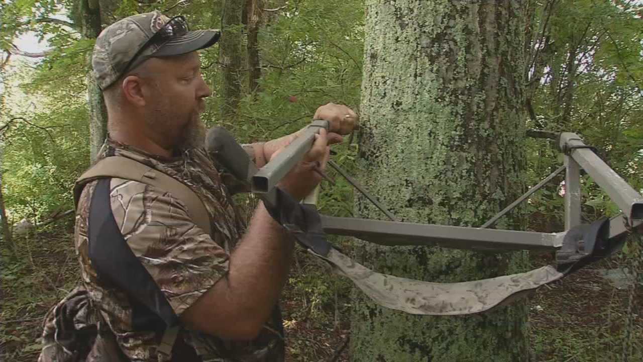 Hunters should regularly check for wear and tear on their tree stand. (WCHS/WVAH)