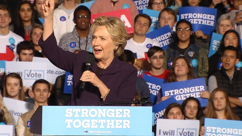 Hillary Clinton draws thousands at Ohio State rally (WSYX/WTTE)