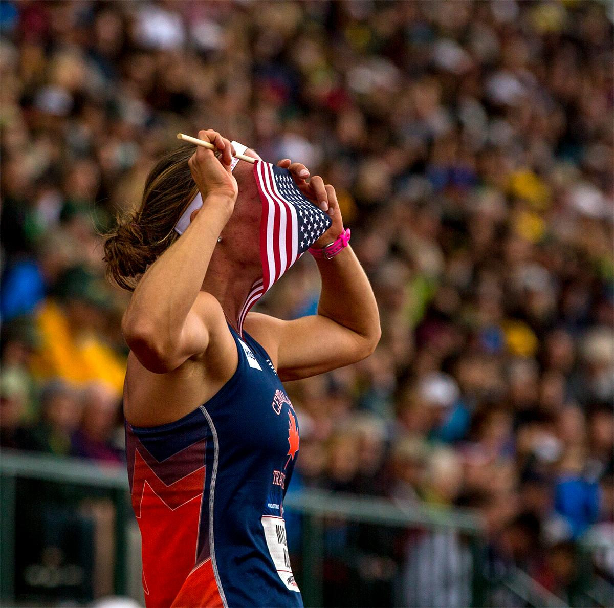Central Park TC's Heather Miller-Koch will be on her way to Rio soon after winning the 800 meters portion of the heptathlon and finishing second overall. Photo by August Frank, Oregon News Lab