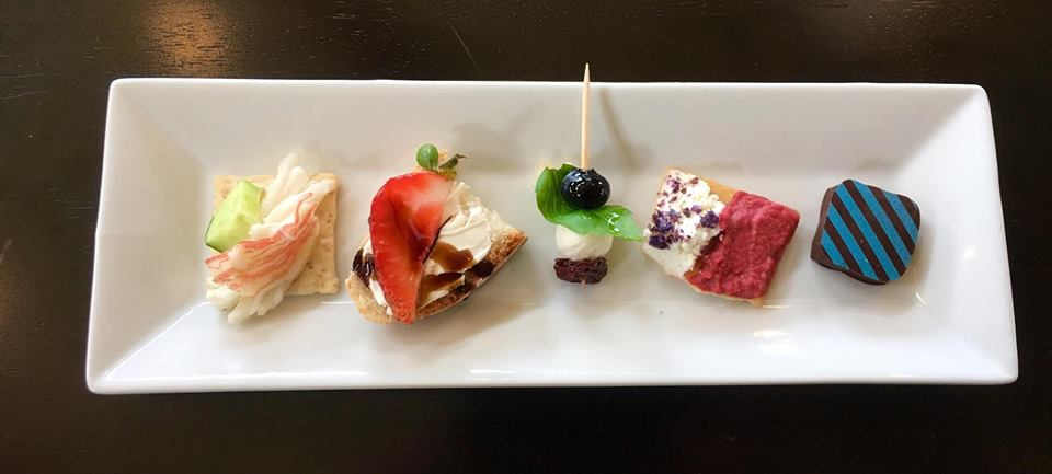July 2017 Tasting Plate at Fabbioli Cellars (Photo credit Fabbioli Cellars)