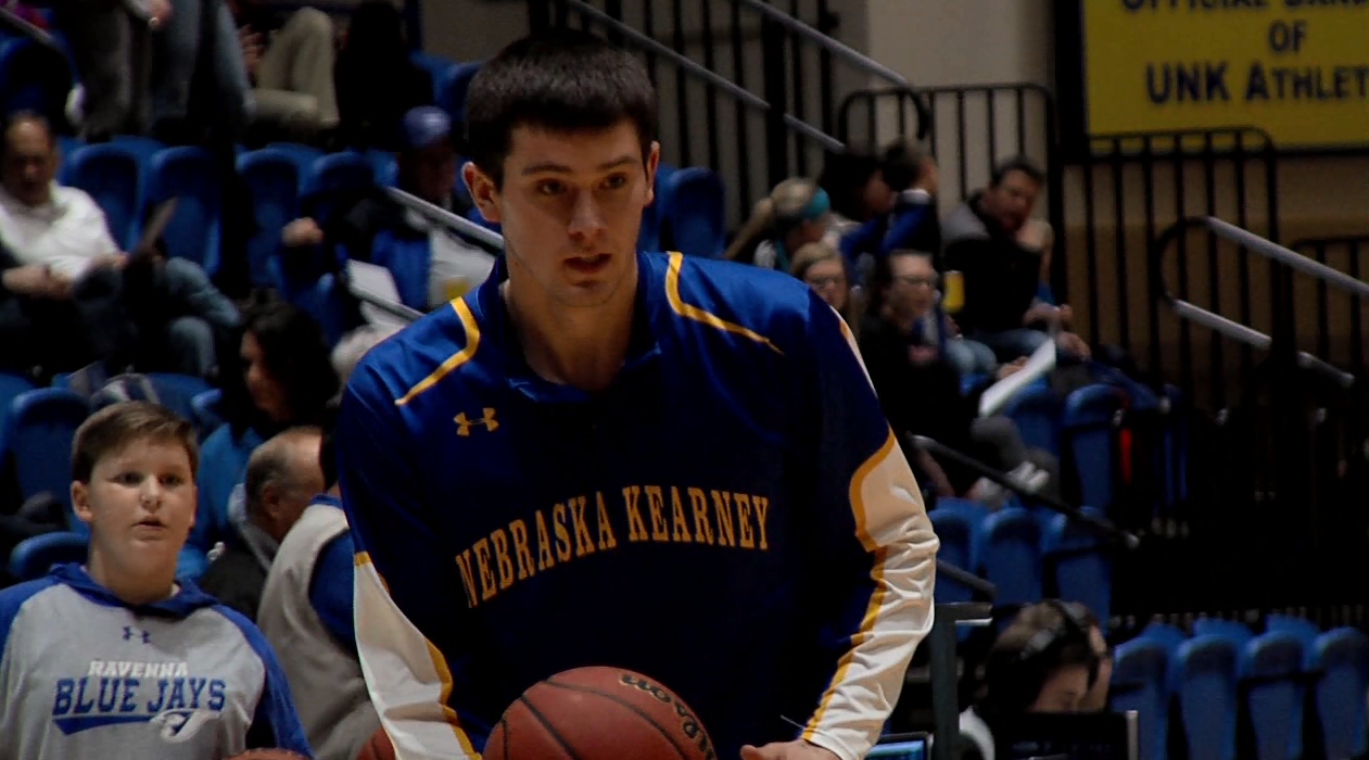 Nebraska-Kearney forward Trey Lansman warms up before a game with the Lopers. (KHGI){&amp;nbsp;}<p></p>