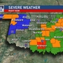 Severe Weather: Tornado Watch in effect for central and eastern half of Oklahoma