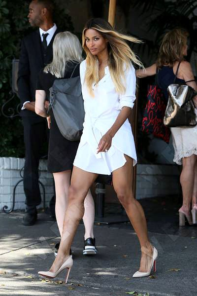 Ciara looked absolutely flawless at Revlon's Annual Philanthropic Luncheon in Los Angeles yesterday. The star studded event brought out many celebrities but, admittedly (and probably a bit biased) we think Ciara stole the show.  Yes her dress is phenomenal, but can we just talk about that girls' legs! SLAY GIRL.SLAY. (Image: WENN).