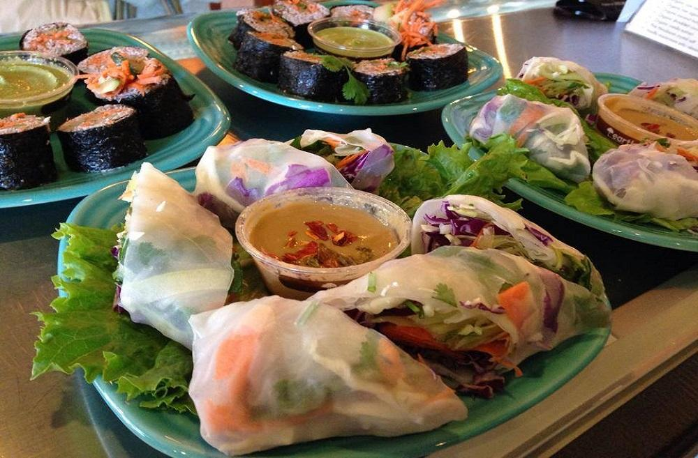 Beautiful Fresh Rolls and Ninja Rolls at Thrive. (Photo Courtesy: Thrive Facebook Page)