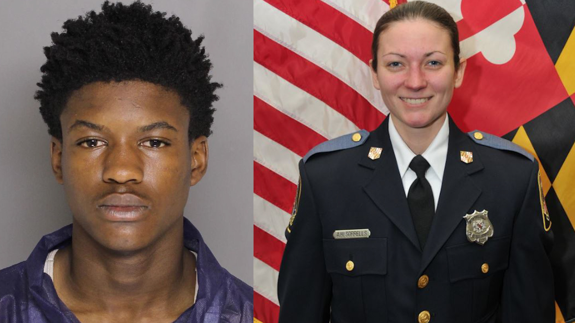 Dawnta Anthony Harris (left) and Amy Caprio (right). (Photos, Baltimore County Police)