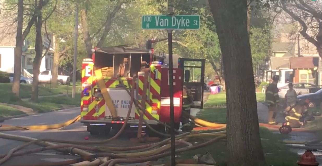 Decatur's fire chief tells us crews are responding to a house fire near the intersection of Van Dyke and Leafland.  (Courtesy: Joe Crain)
