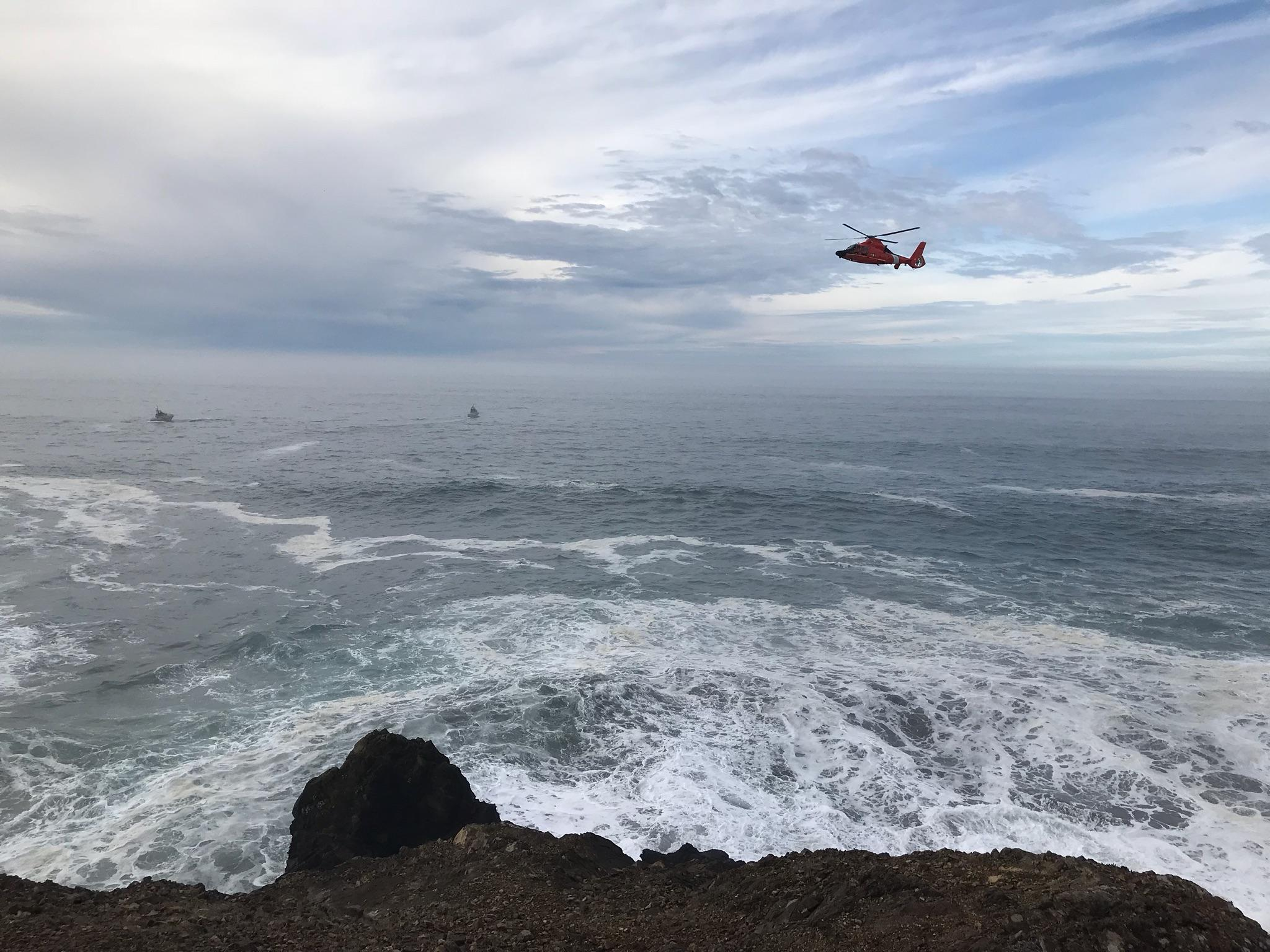 """The search effort, which is still underway, is expected to continue until sunset or when conditions no longer safely allow,"" police said in a statement. (OSP)"