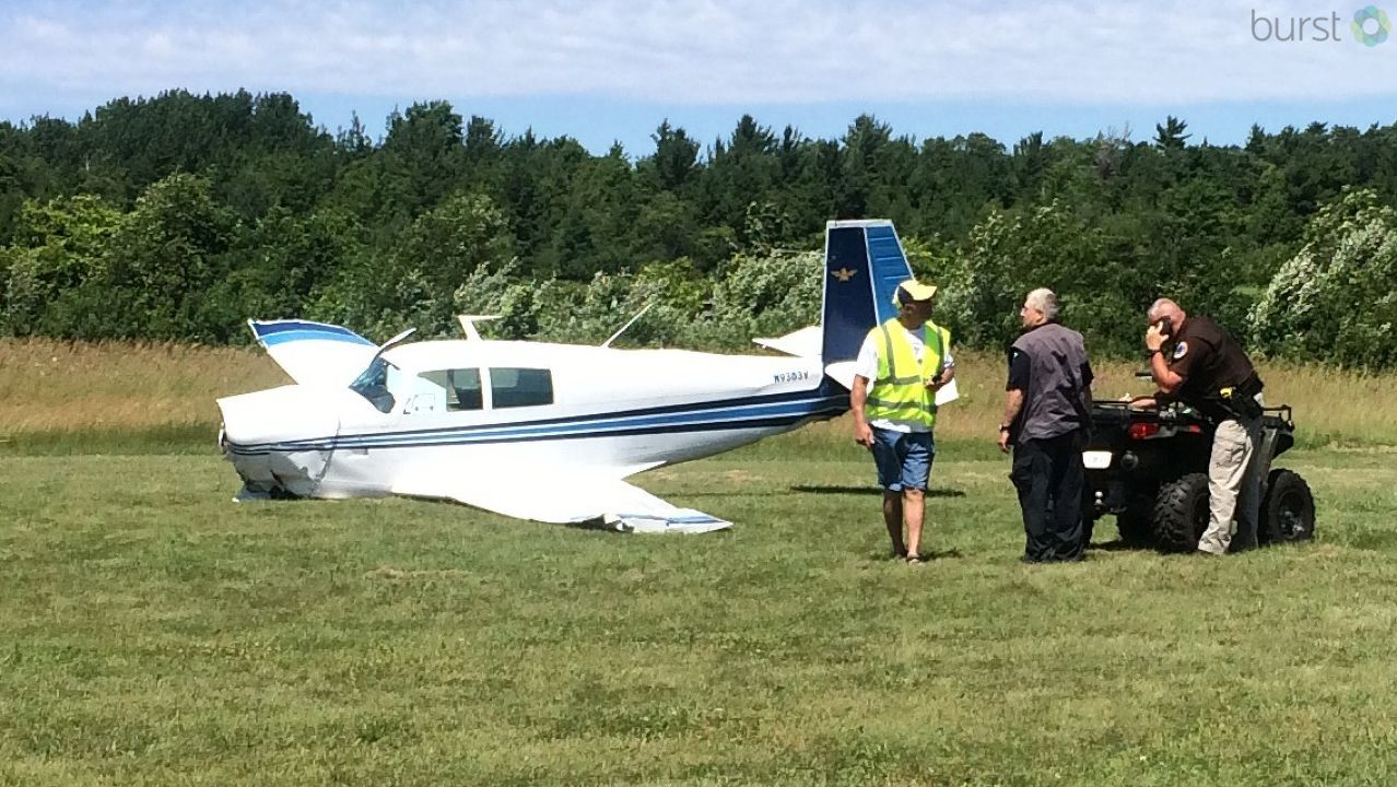 A look at the plane after it crashed on Washington Island. (Submitted by Brent Brilla)