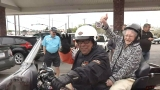 Woman celebrates 100th birthday with motorcycle ride