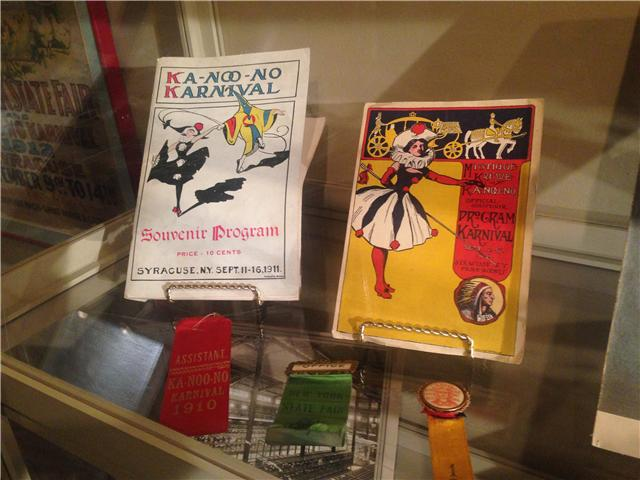 Karnival souvenir programs from 1911 and 1917.  On display at OHA.