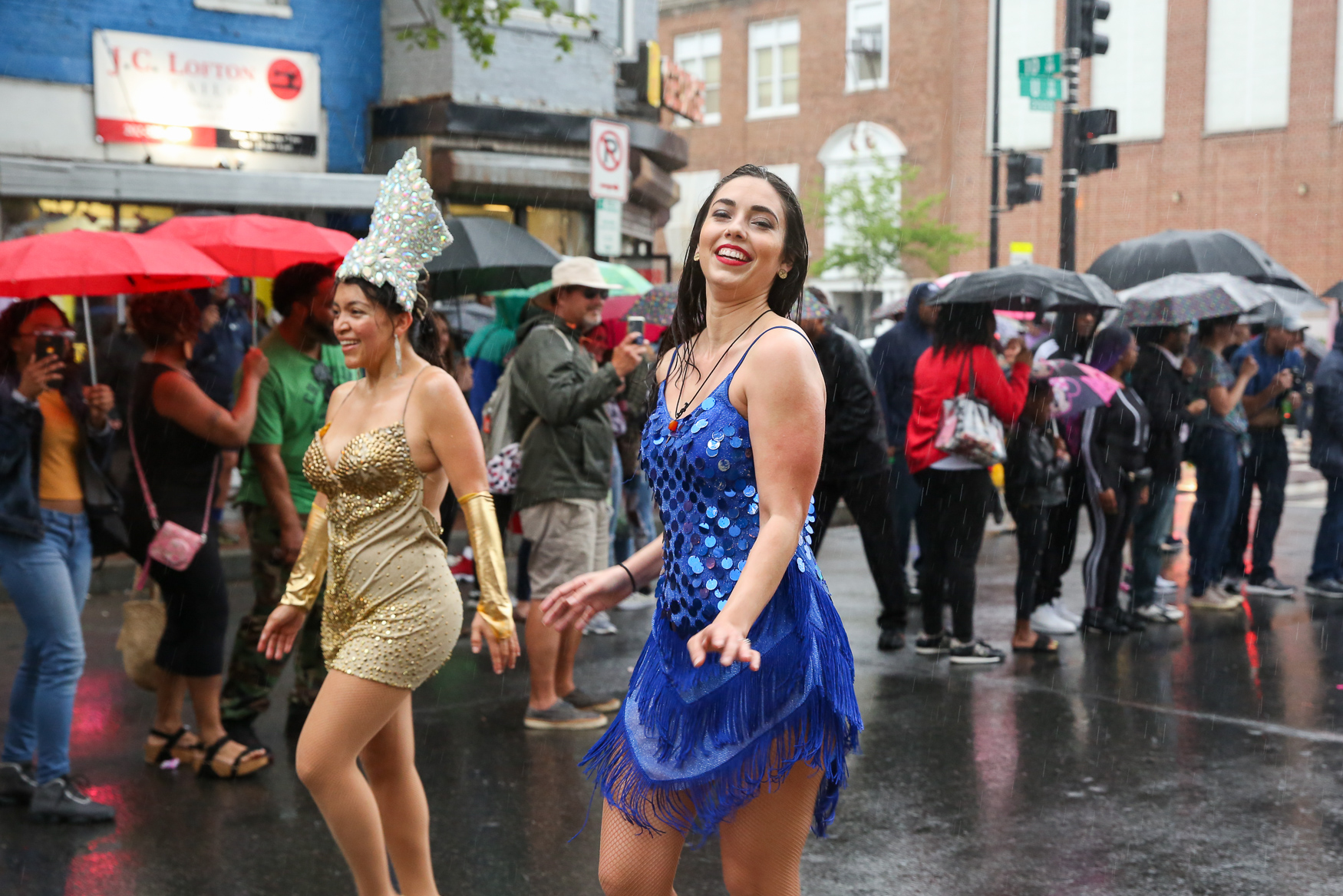 Rain couldn't stop the music as the sixth annual Funk Parade made its way around U Street on May 11. The Funk Parade featured local musicians and performance groups, but the fun didn't stop there - parties and music acts sprung up around northwest in honor of D.C.'s rich musical history.{ } The parade took on a special significance in light of the #DontMuteDC movement, which aims to preserve D.C.'s culture in the face of rapidly shifting demographics. (Amanda Andrade-Rhoades/DC Refined)
