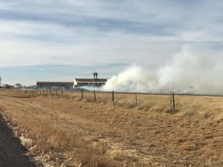 Crews are on the scene of a cotton burr pile fire at the Lakeview Gin in Swisher County. (Photo Courtesy: Tulia Volunteer Fire Department)<p></p>