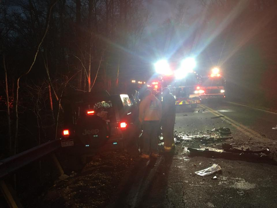 Both drivers suffered serious injuries from the crash. (WCHS/WVAH)<p></p>