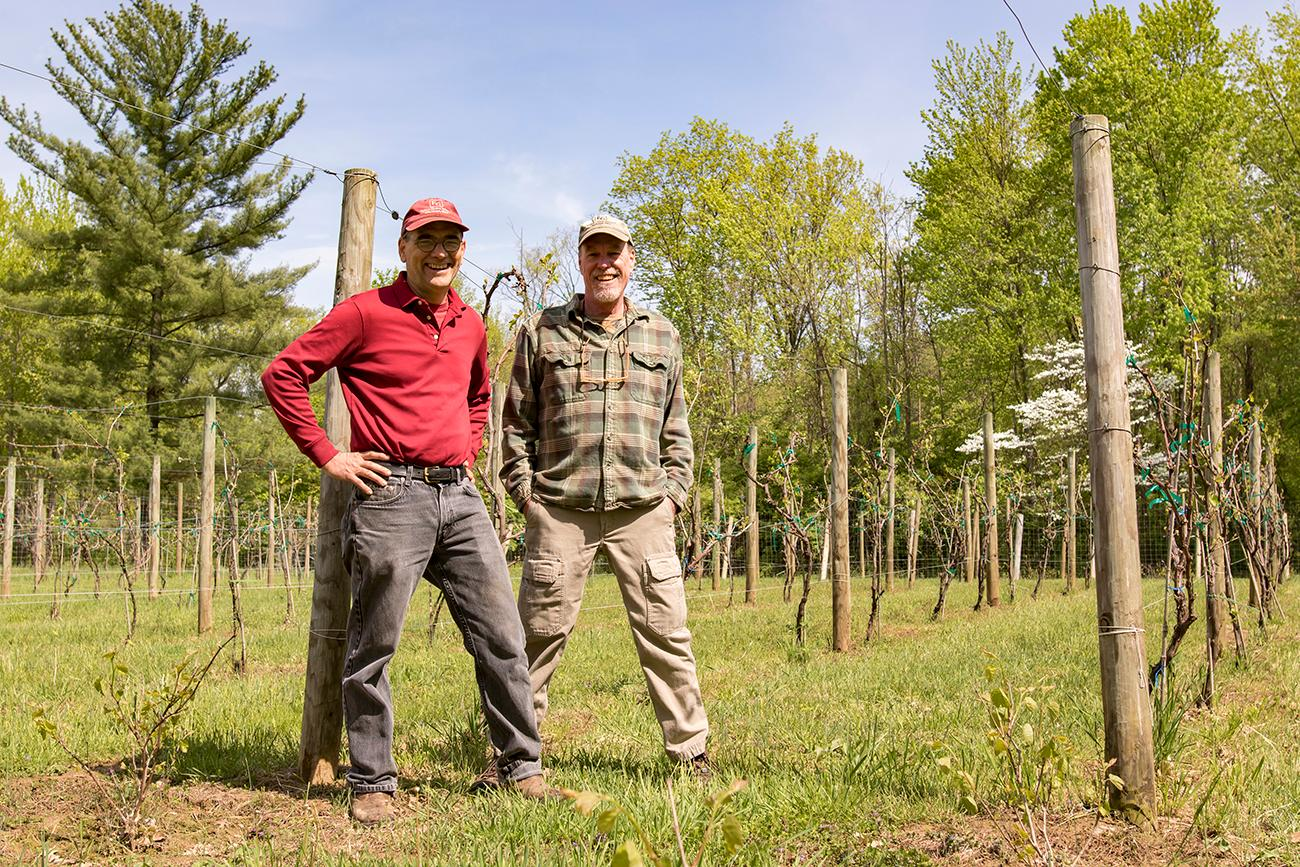 <p>Brian StClair and Bruce Murch, winemakers and owners of Fulton Grove Winery / Image: Allison McAdams // Published: 5.30.19</p>