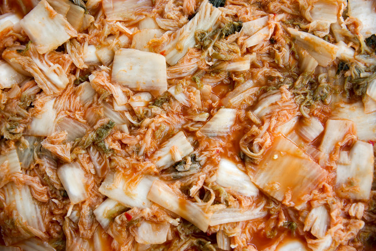 You can enjoy the kimchi fresh, but it'll be fermented in around three days. After which, you can place it in the fridge to stop fermentation. (Image: Amanda Andrade-Rhoades/ DC Refined)