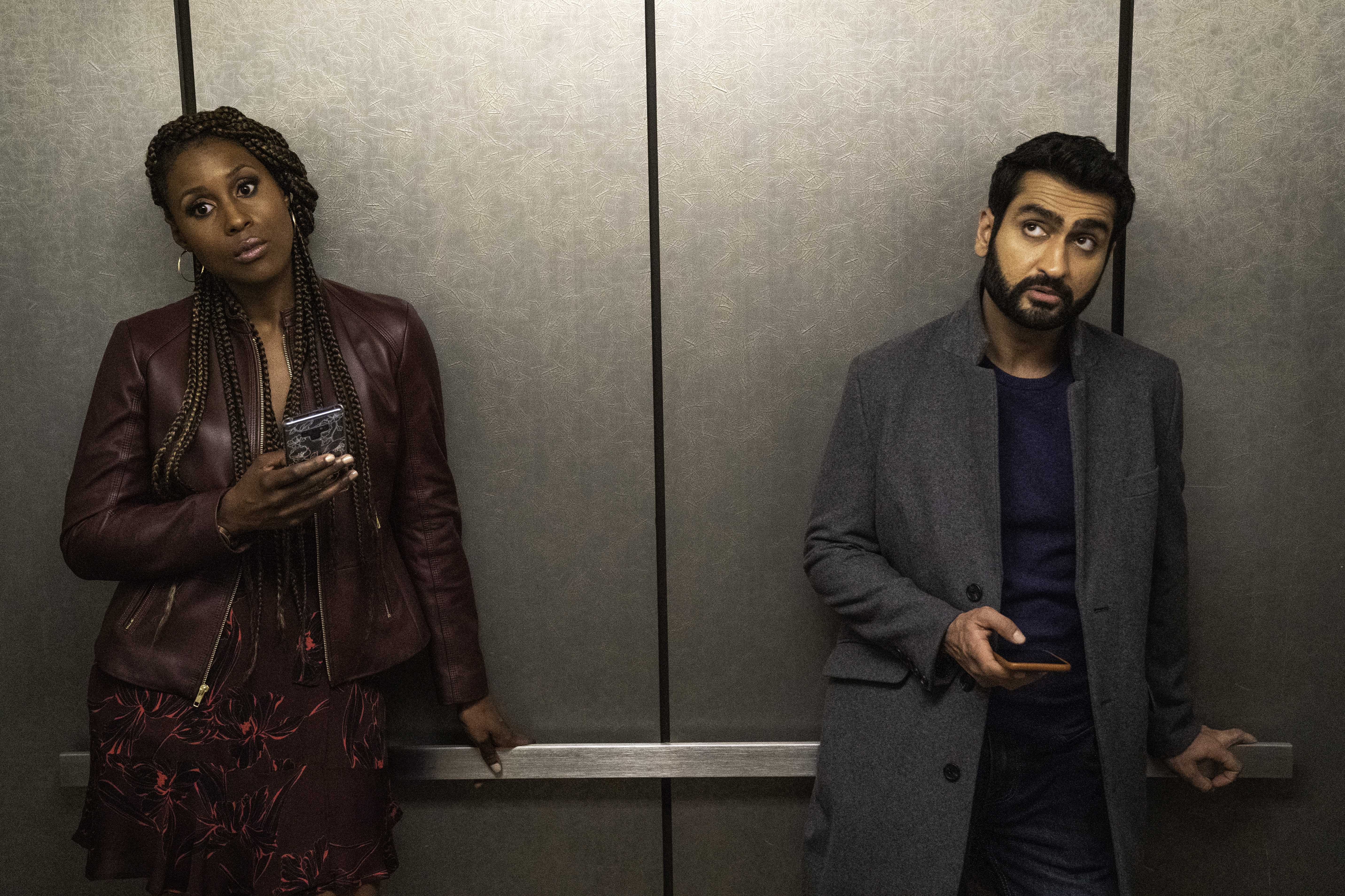 "Issa Rae as Leilani, Kumail Nanjiana as Jibran of ""The Lovebirds"" from NETFLIX."