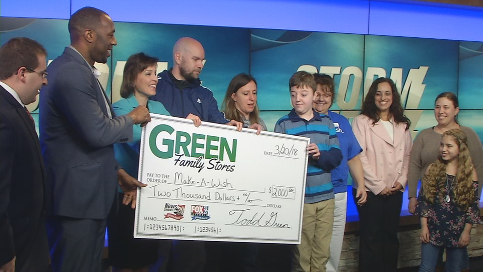 Green Family Stores >> Make A Wish Receives 2k From Green Family Stores Storm
