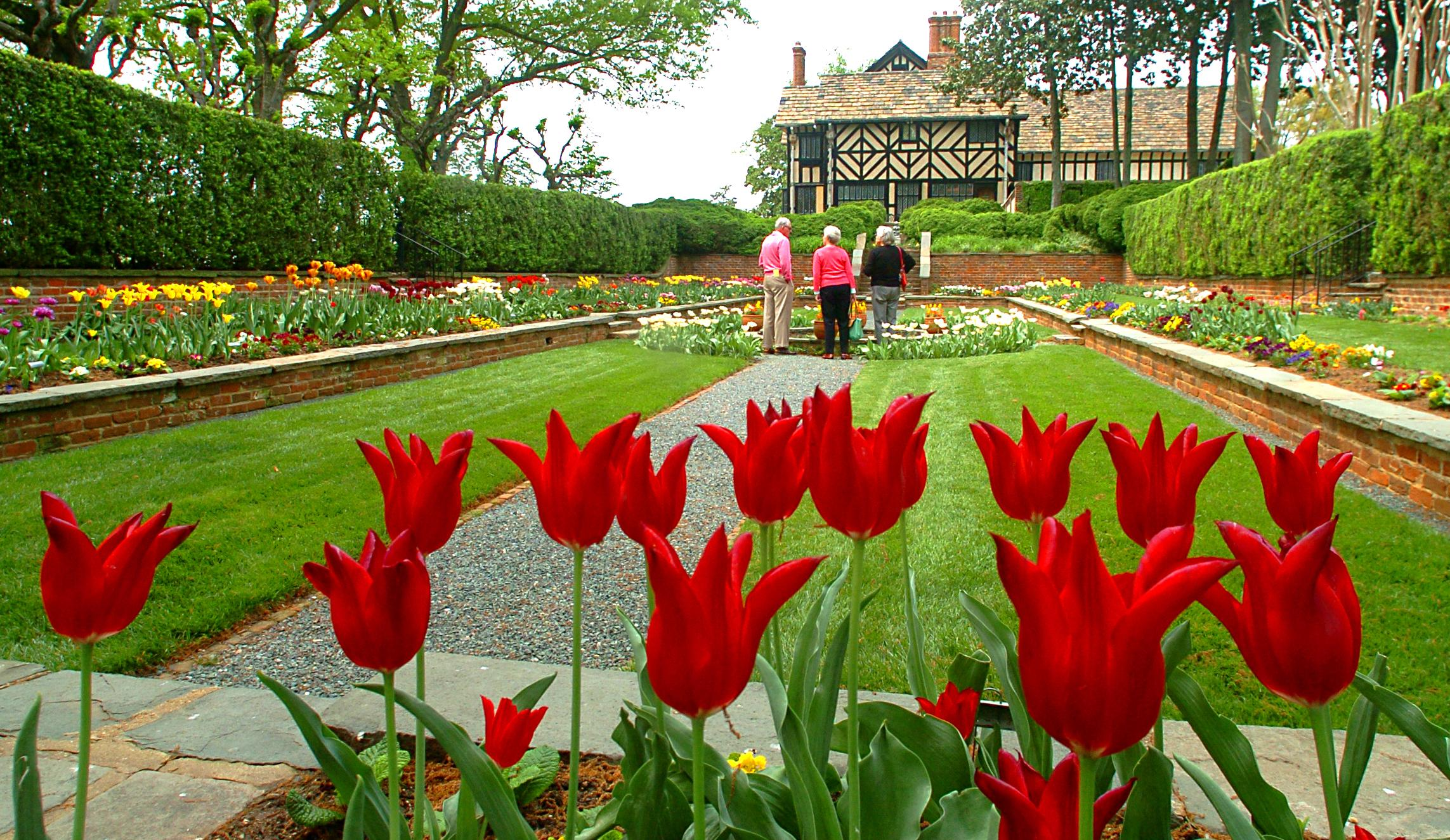 Agecroft Hall's gardens are scenic all year round.{ }(Image: Michael Solender)
