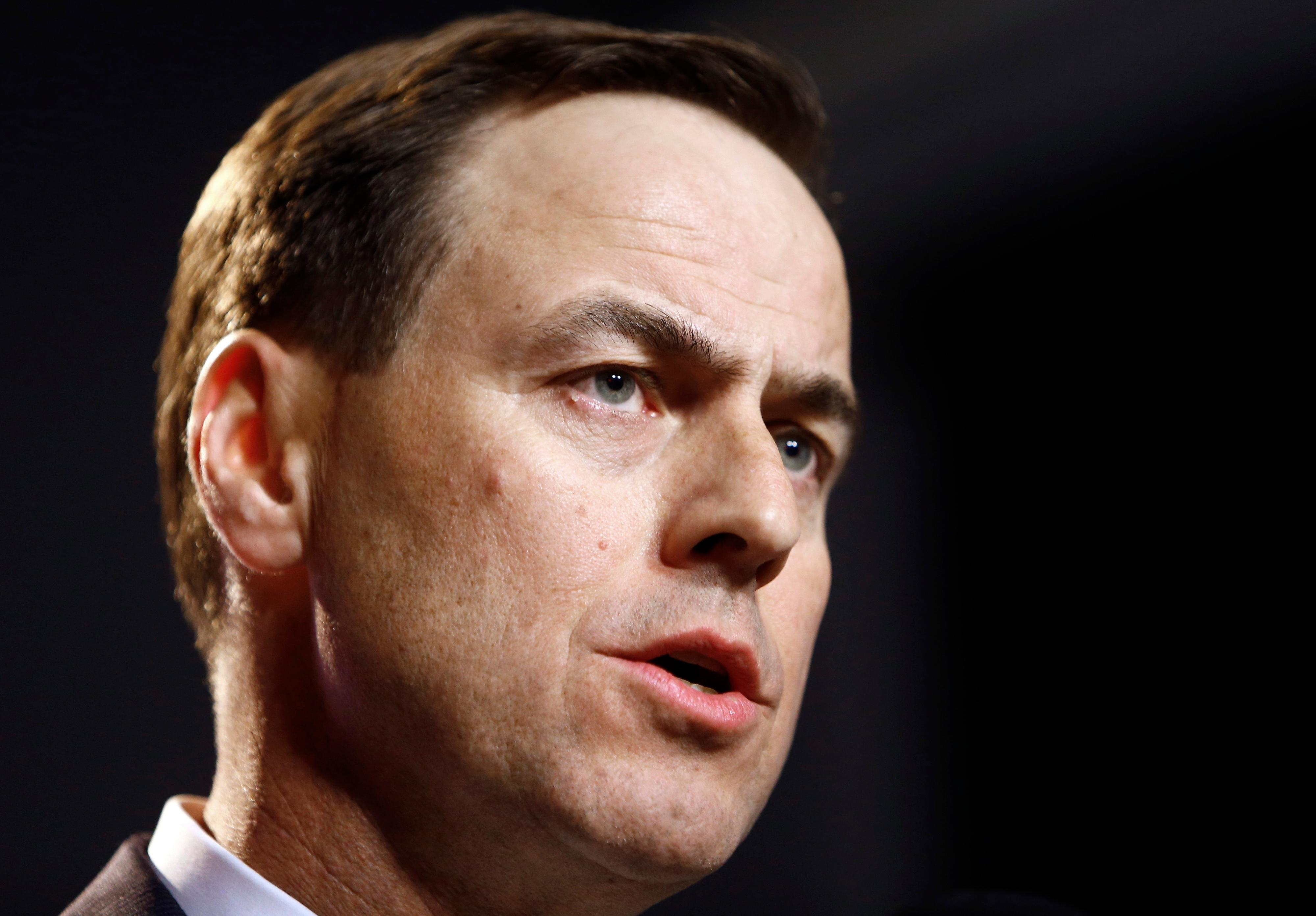 FILE - In this Nov. 12, 2017, file photo, University of Tennessee Athletic Director, John Currie speaks during a press conference announcing the firing of head football coach Butch Jones in Knoxville, Tenn. Currie faces a major challenge finding a candidate to replace Jones who can unite the fan base and make Tennessee competitive again. (Wade Payne/Knoxville News Sentinel via AP, File)