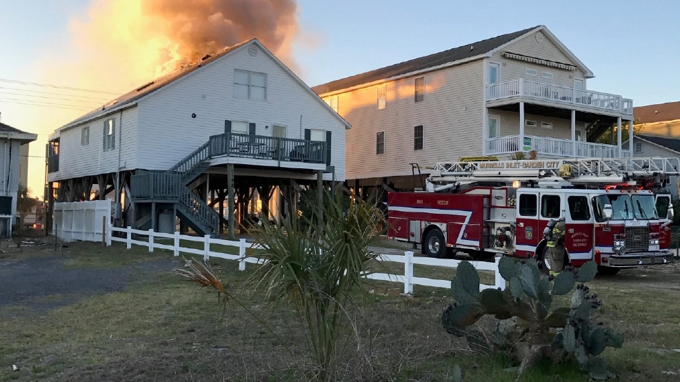 crews respond to beach house fire in garden city. Interior Design Ideas. Home Design Ideas