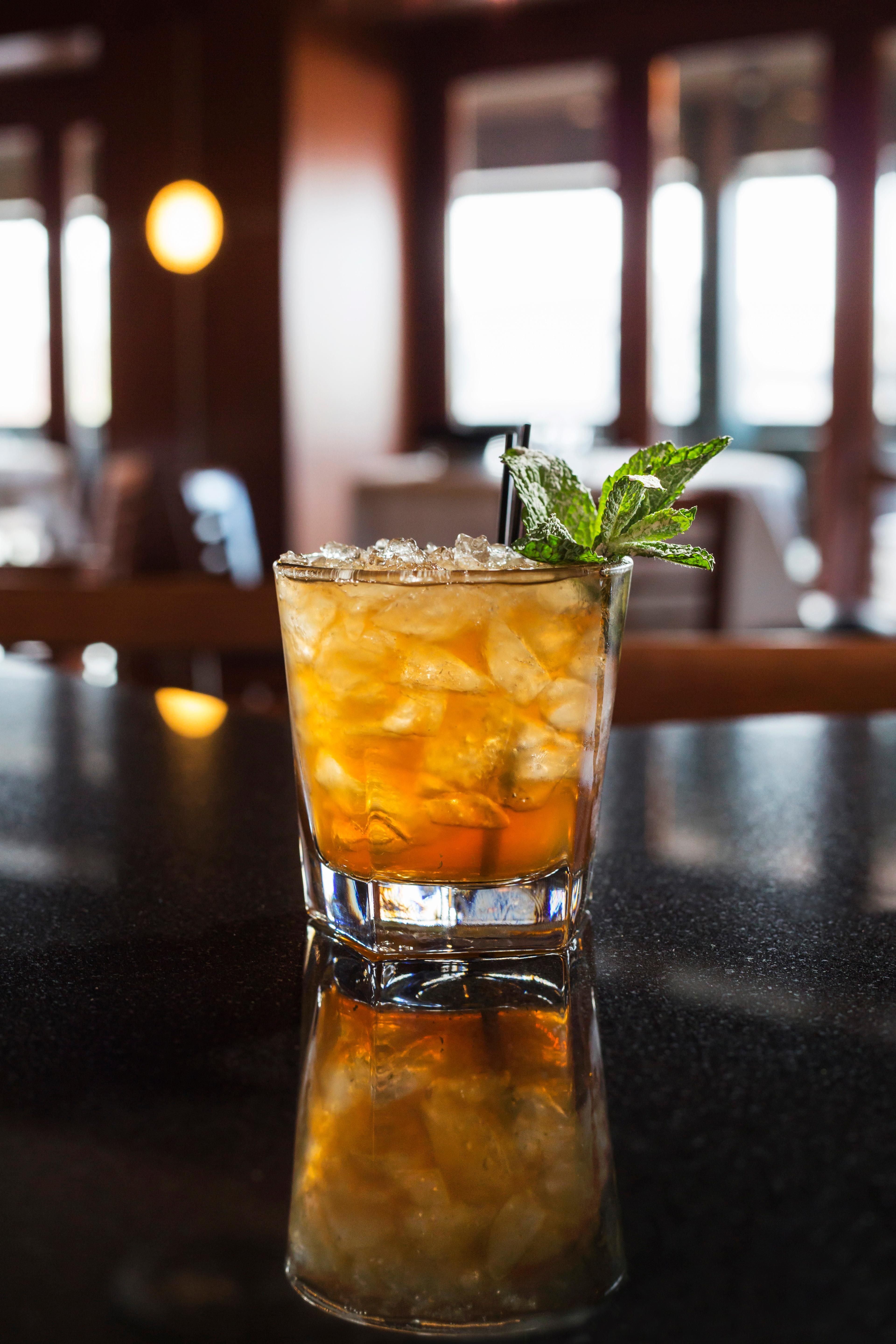 This mint julep gets a unique flavor from a small amount of amaretto and depth from a hearty dash of Angostura Bitters. (Image: Courtesy Ocean Prime)