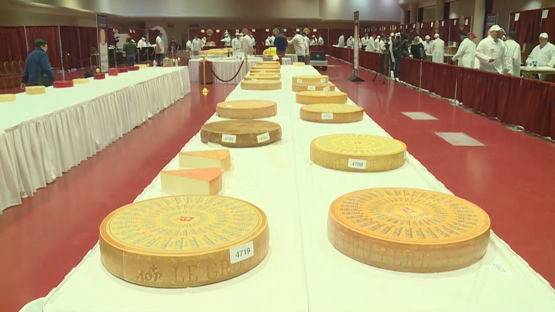 The World Championship Cheese Contest in Madison, March 6, 2018. (WMTV)<p></p>