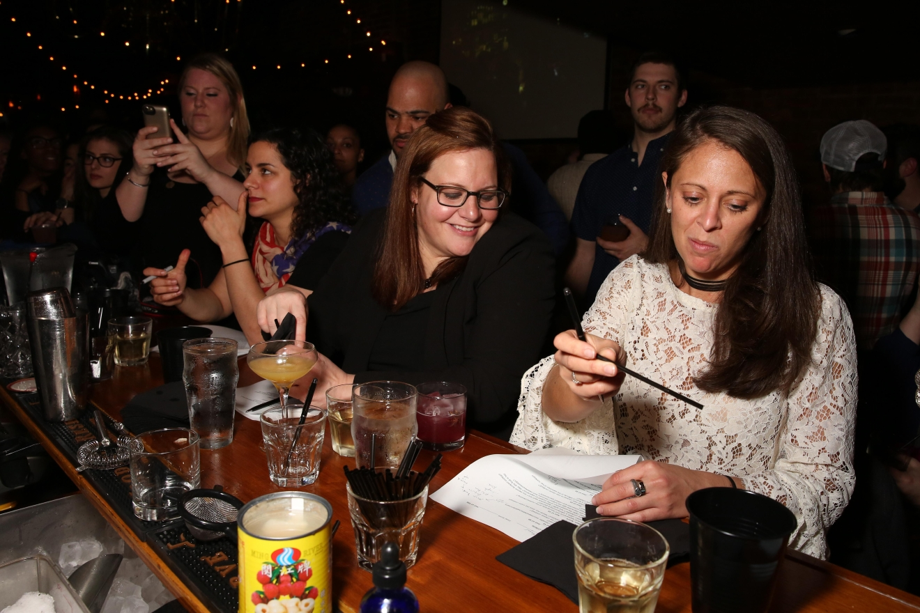 From left, judges Andrea Tateosian, who was last year's winner, Gina Chersevani of Buffalo and Bergen, and Pamela Wizintzer, the president of the U.S. Bartenders Guild and creative director of Seamstress NY.  (Amanda Andrade-Rhoades/DC Refined)
