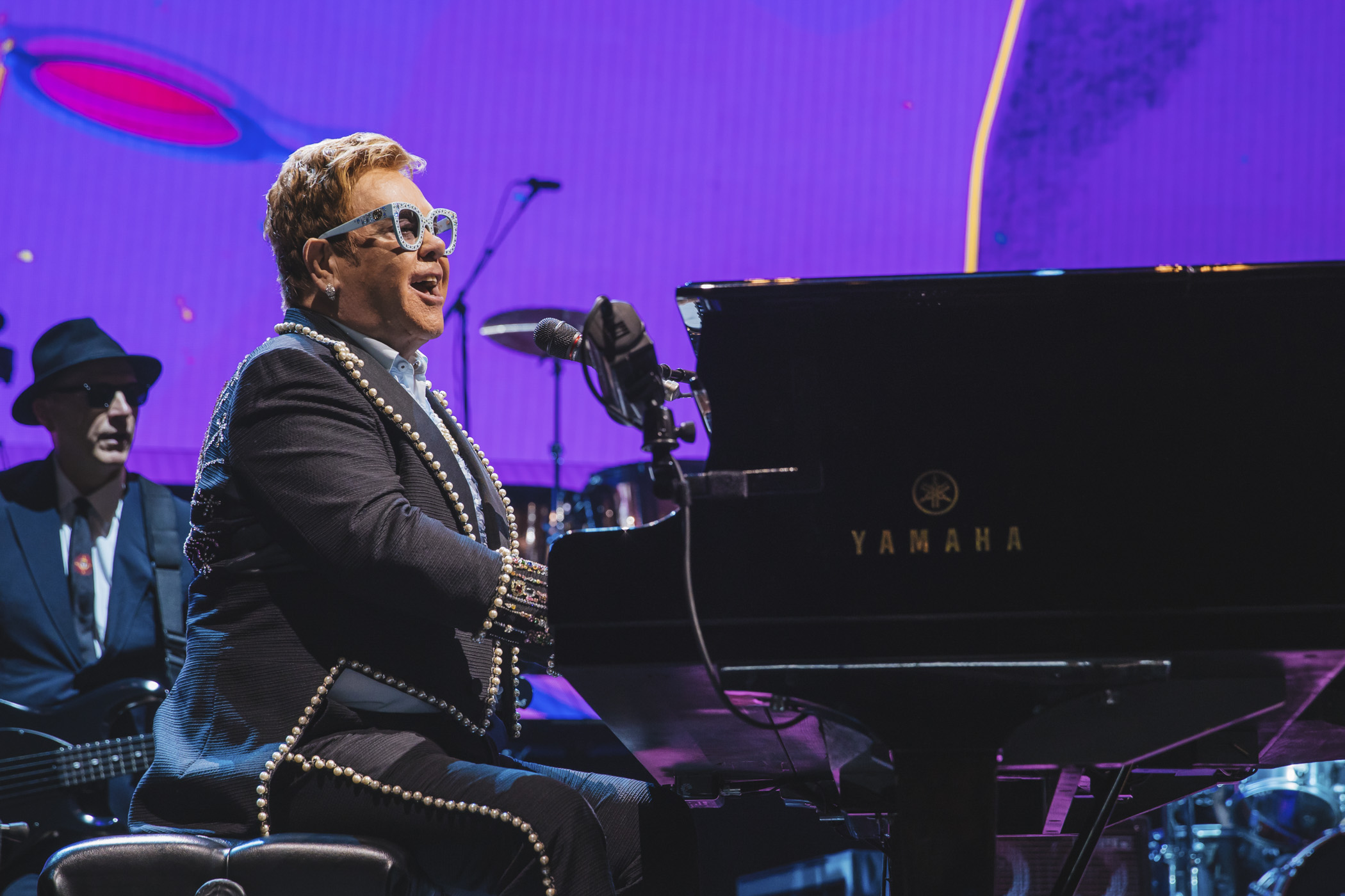 Superstar Elton John brought his { }Farewell Yellow Brick Road tour to the Tacoma Dome for two nights this week (Sept. 17 & 18), here he played hits spanning his 50-year career to a capacity crowd. This tour is slated to be the pop star's final one, ending in two nights at London's O2 Arena in December 2019. (Image: Sunita Martini / Seattle Refined){ }