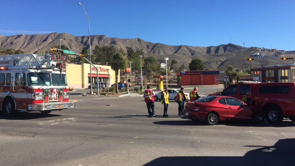 Police Respond To Crash Involving Fire Unit In West El