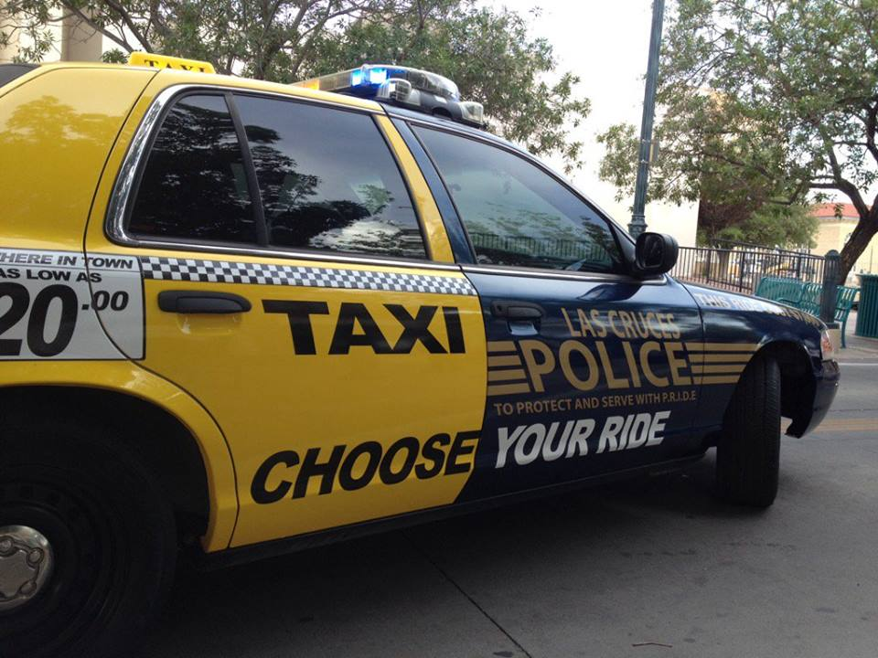 Half police car half taxicab used for dwi prevention kokh for Las cruces motor vehicle division las cruces nm