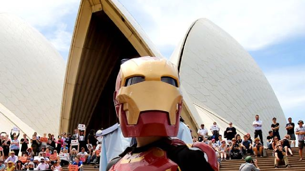 Iron Boy defeats Ultron, saves Sydney with help of Make-A-Wish Australia
