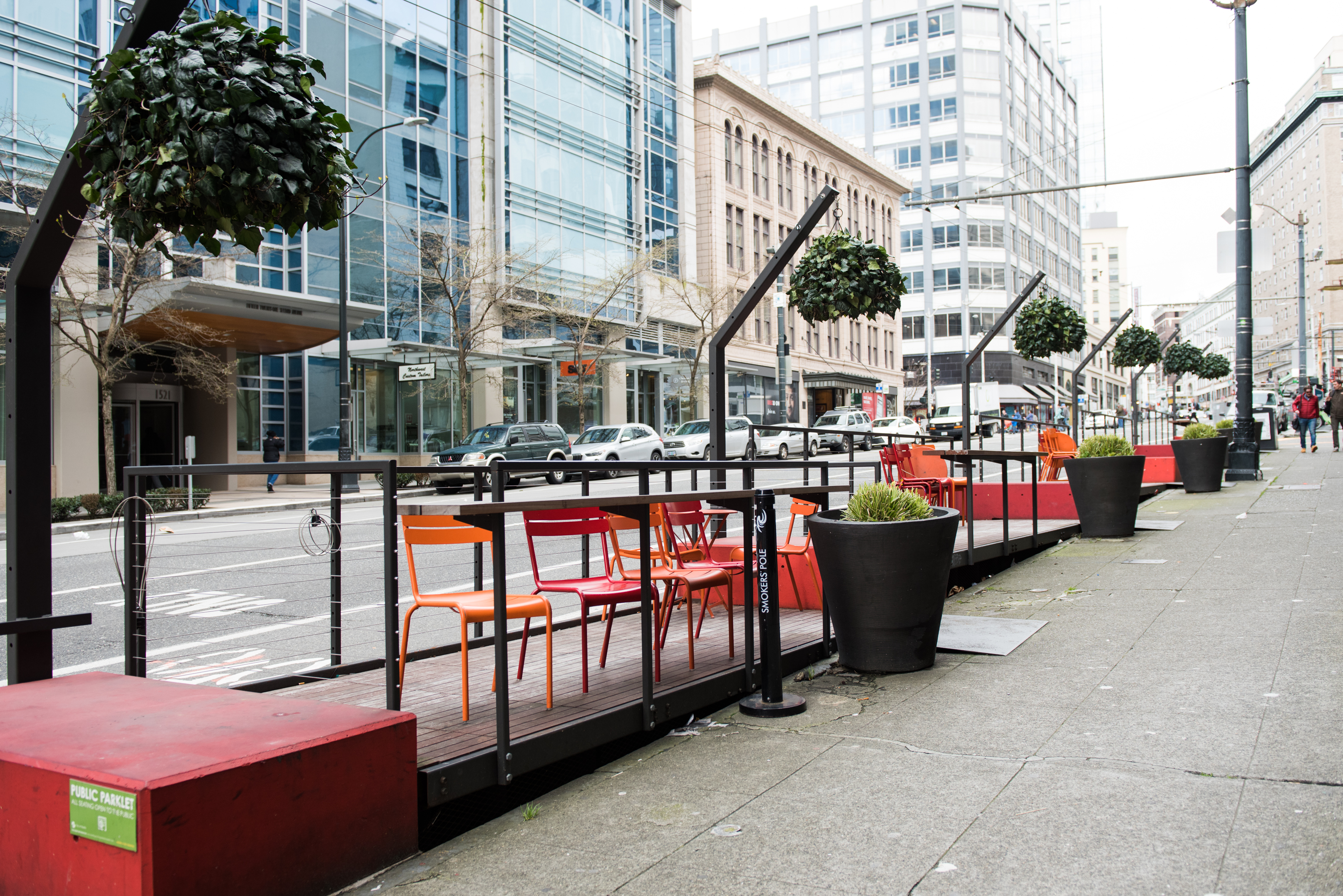 Chromer Market Parklet: However, the Chromer Market parklet won't be around for long, in just a couple of weeks it will be removed to make way for an extended bike lane along 2nd Avenue, and there won't be room for the parklet any longer. (Image: Natalia Dotto)