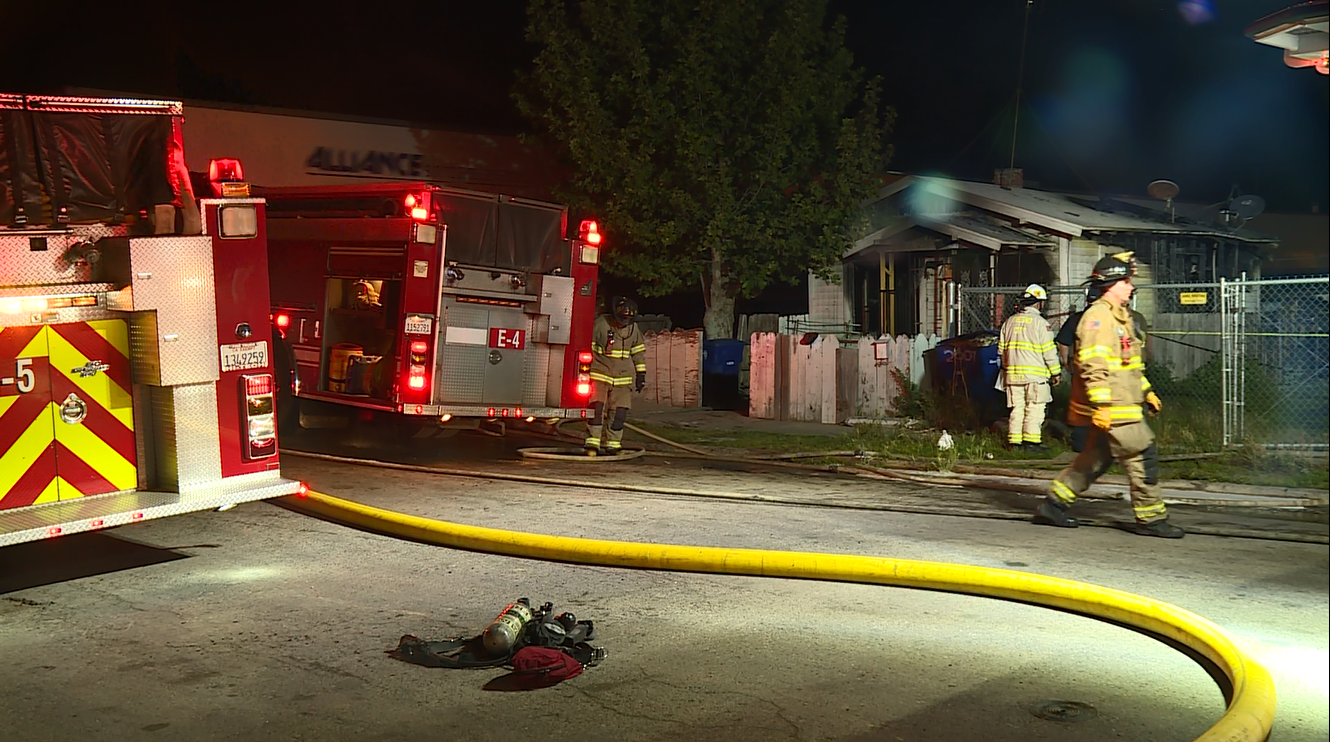 Building is a complete loss after fire on Clay Ave. Thursday morning. Photo: FOX26 Photographer Chris Costello