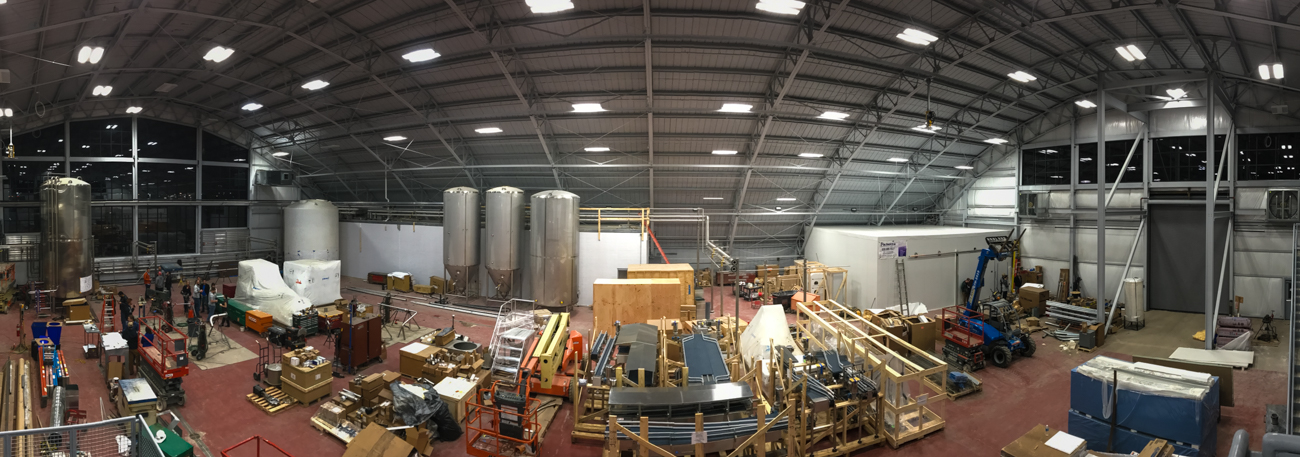 MadTree's new brewing area is still under construction. / Image: Phil Armstrong, Cincinnati Refined // Published: 2.11.17