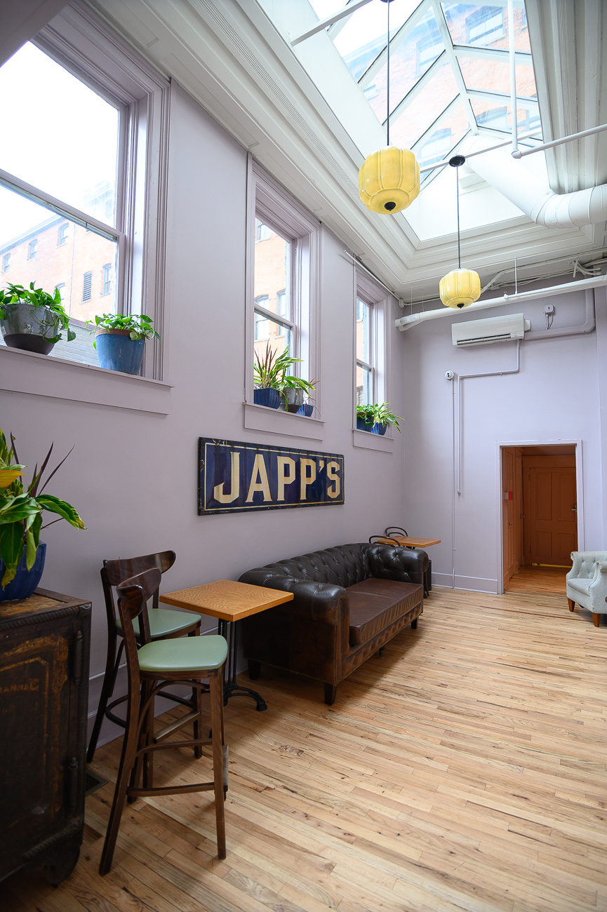 Japps' three-month remodel brightened its color palette, refurbished its furniture and floors, added a variety of new seating, and increased the overall comfortability of the bar. / Image: Phil Armstrong, Cincinnati Refined // Published: 10.25.19