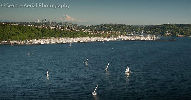 What a great day for a race. (Photograph by SeattleAerialPhotography.com)