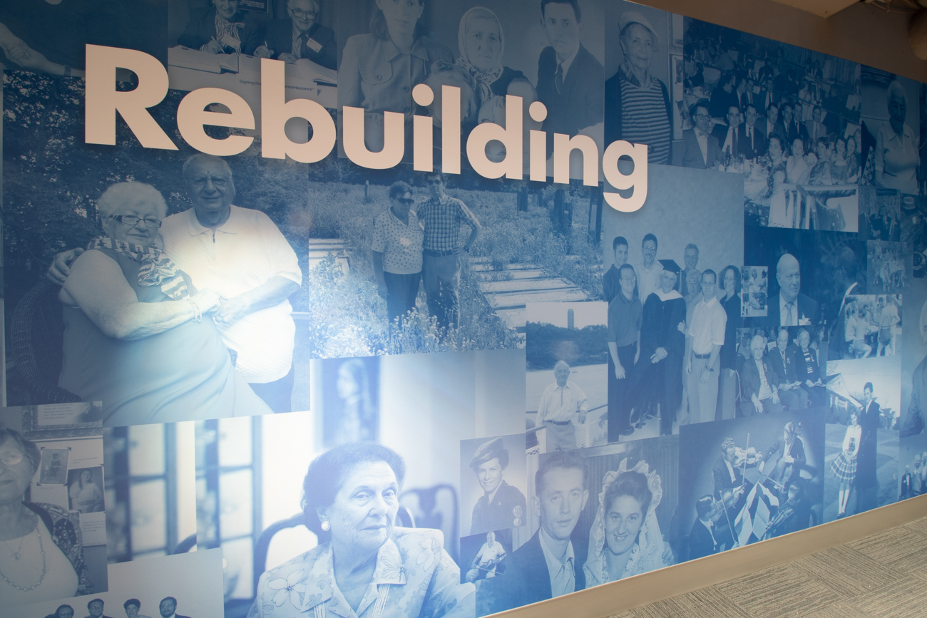 A mural showcasing local survivors and their stories of rebuilding in Cincinnati after the events of the Holocaust and World War II / Image: Ronny Salerno // Published: 1.14.19
