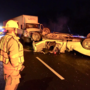 2 tractor trailers and overturned pickup truck involved in crash on I-495 near Beltway