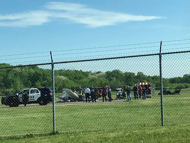 Pilot injured in small plane crash at Butler County Regional Airport in Ohio (Brandy Lucken))