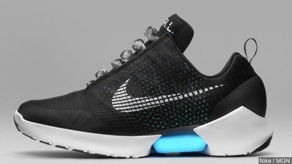Nike this week unveiled the new Hyper Adapt 1.0 shoe, which can lace itself.  (MGN Online)