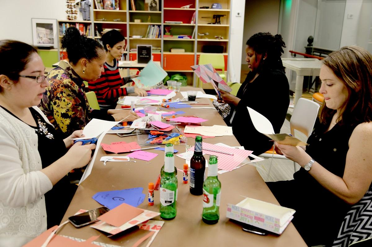 There's really nothing better than an evening of wine and crafts, if we're being totally honest. On the second Thursday of every month, the National Postal Museum offers a two hour workshop where attendees can make a postal-themed craft and sip on a complimentary beverage. (Image: Courtesy the National Postal Museum)