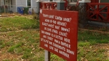 Sign sparks conversation in West Asheville