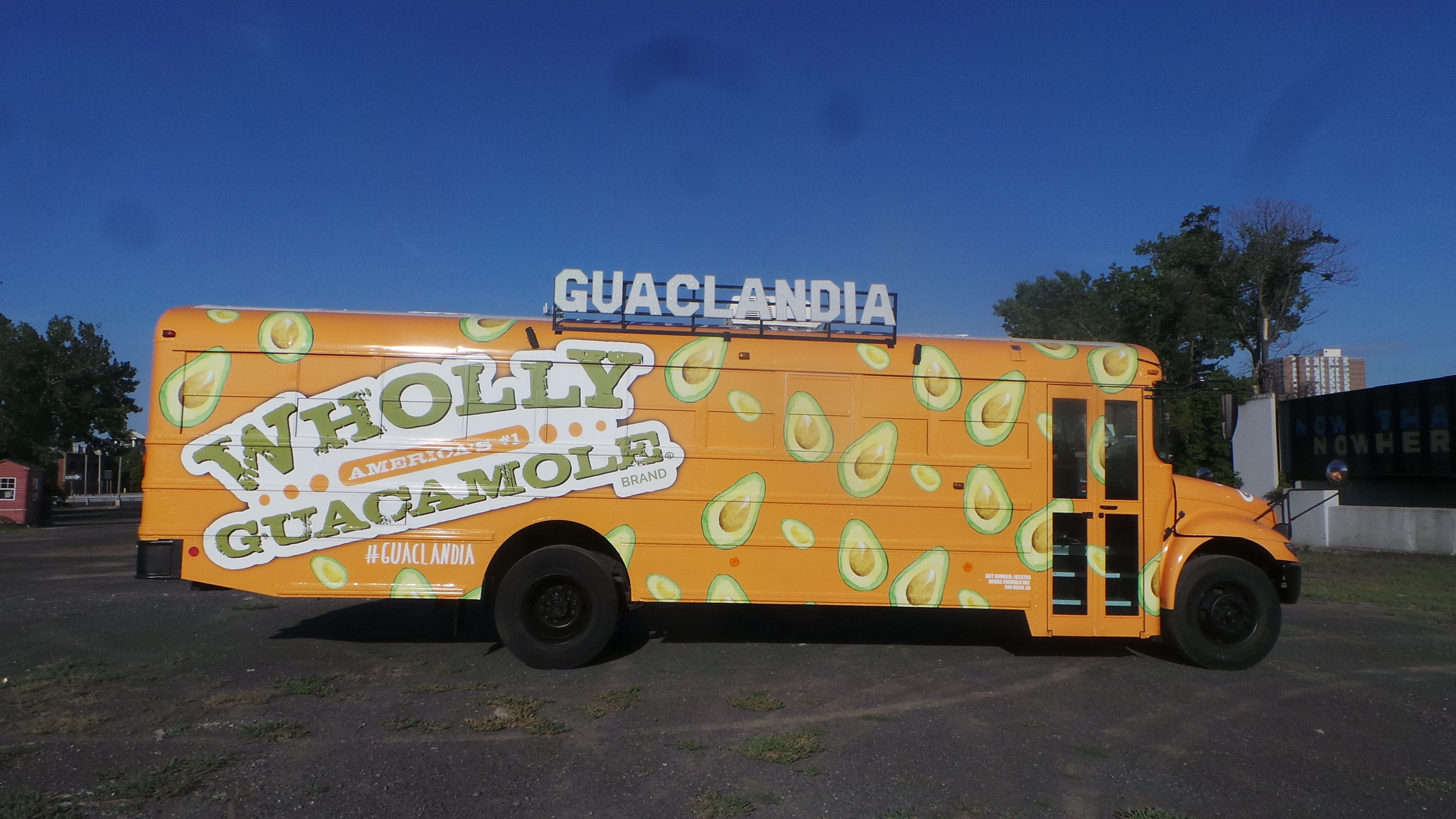 Guaclandia is free and will feature unlimited samples of guacamole, including the new Wholly Guacamole Snack Cups.