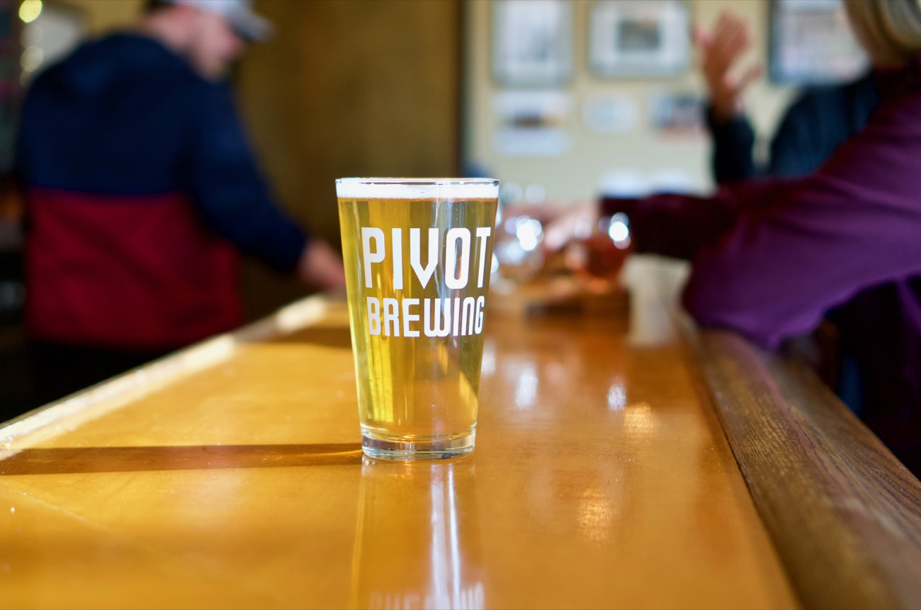 PLACE: Pivot Brewing / ADDRESS: 1400 Delaware Avenue (40505) / Opened in 2016, Pivot (ahem) pivots away from the gruff and tumble world of craft in favor of artisanal cider, an activity that shares as much in common with wine-making than beer-brewing. The apples are pressed on site, and the ciders include supplemental flavors such as mint, pear, ginger, cherries, and orange. Most enticing is the combo menu, where Pivot pairs one of its beers with one of its ciders. The Health Nut, for example, is half Almond Spice cider and half Pecan porter. Delicious. / Image: Brian Planalp // Published: 12.12.18